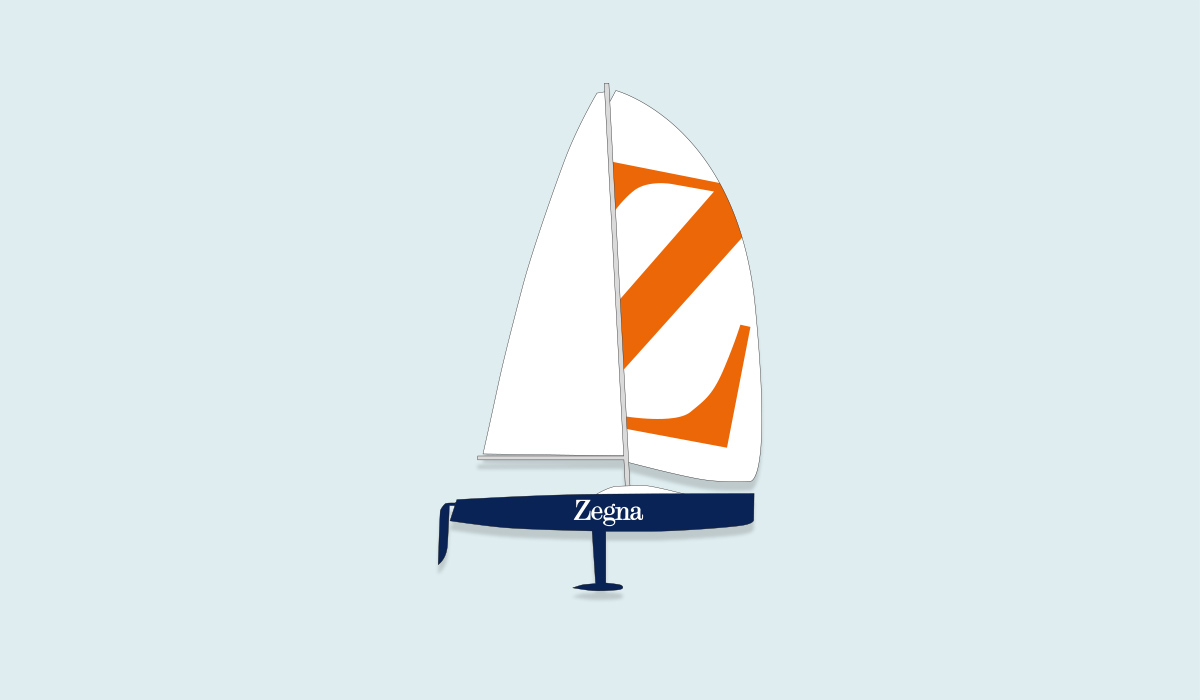 Grafikdesign Berlin Coporate Segelboot Regatta Mode Herren Sport Brasilien